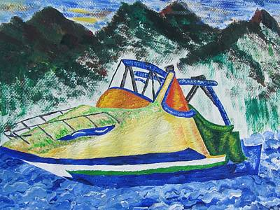Painting - Mountain Boating by Debbie Nester