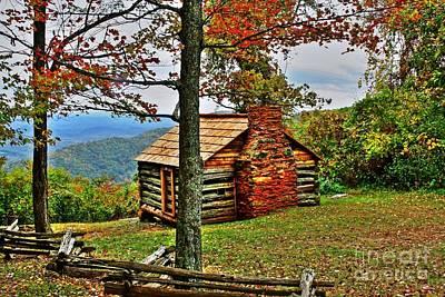 Mountain Cabin 1 Art Print by Dan Stone