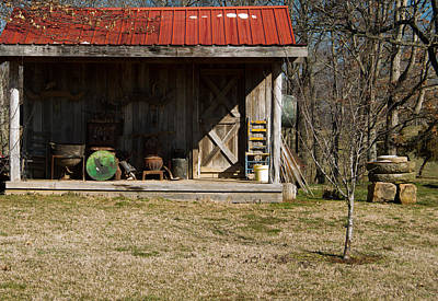 Mountain Cabin In Tennessee 3 Art Print