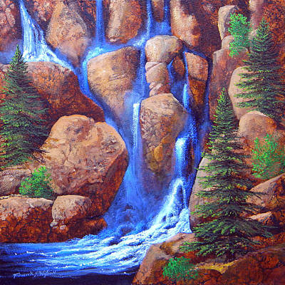 Painting - Mountain Cascade  by Frank Wilson