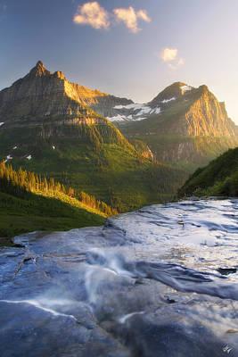 Mountain Cascade Art Print by Peter Coskun