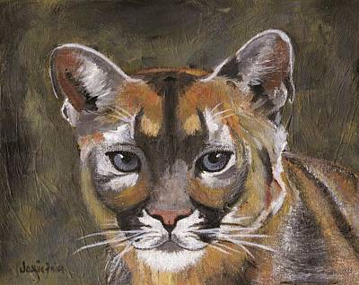 Painting - Mountain Cat by Jamie Frier