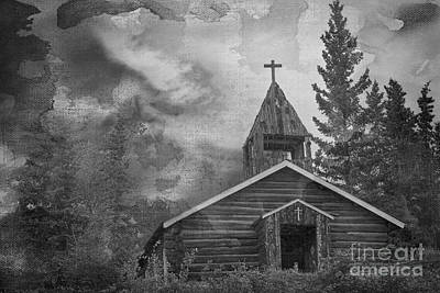 Photograph - Mountain Church Black And White by David Arment