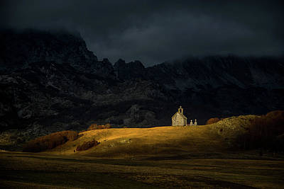 Autumn Hills Photograph - Mountain Church by Dejan Dajkovic