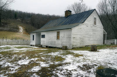 Photograph - Mountain Country Farmhouse  1920s by Steve Hurt