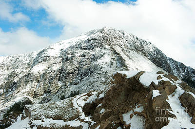 Mountain Covered With Snow Art Print