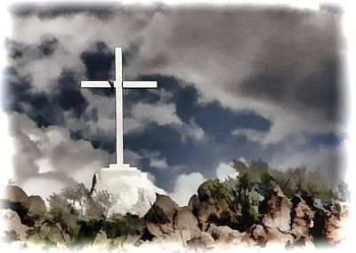 Mountain Cross - San Xavier Mission Art Print