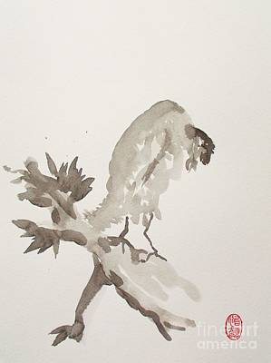 Cuckoo Painting - Mountain Cuckoo Eating A Worm by Pg Reproductions