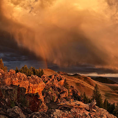Photograph - Mountain Drama by Leland D Howard