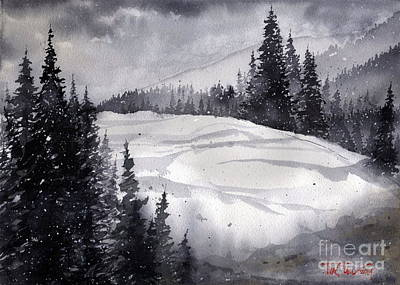 Mountain Drift Art Print by Tim Oliver
