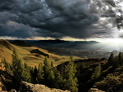Striking Photograph - Mountain Evening by Leland D Howard