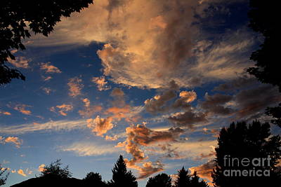 Photograph - Mountain Evening Sky by Amanda Holmes Tzafrir