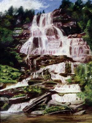 Pastel - Mountain Falls by Nancy Yang