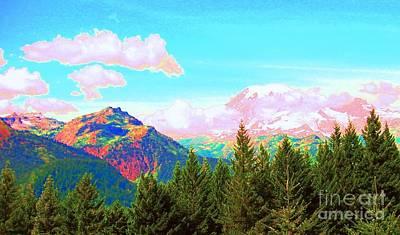 Mountain Fantasy Art Print by Ann Johndro-Collins