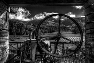 Photograph - Mountain Farm View In Black And White by Greg Mimbs