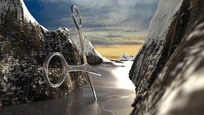 Surrealism Royalty Free Images - Mountain File Royalty-Free Image by Brainwave Pictures