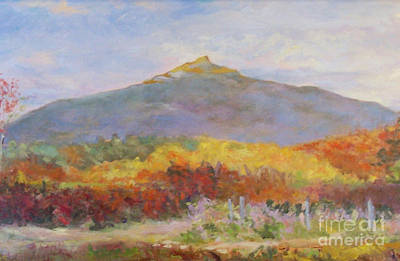 Mt. Monadnock Painting - Mountain Fire by Alicia Drakiotes