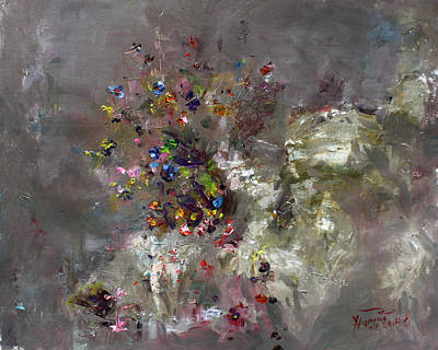 Wild Flower Painting - Mountain Flowers by Ylli Haruni