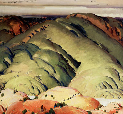 Beautiful Cowgirl Art Photograph - Mountain Forms by Victor Higgins
