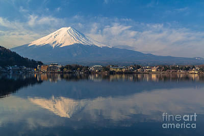 Photograph - Mountain Fuji View From The Lake by Tosporn Preede