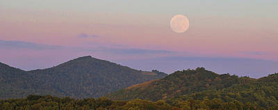 Photograph - Mountain Full Moon by Alan Lenk