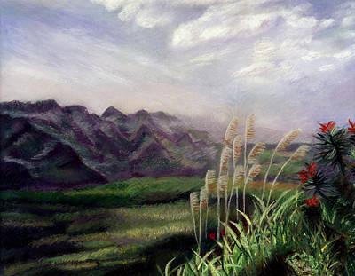 Pastel - Mountain Horizon by Nancy Yang
