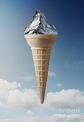 Mountain Ice-cream Art Print