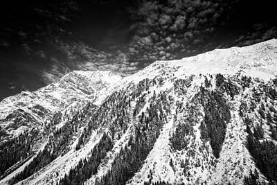 Photograph - Mountain In Winter Black And White Austria by Matthias Hauser