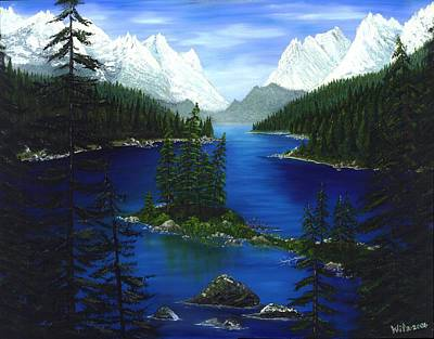 Mountain Lake Canada Art Print by Patrick Witz