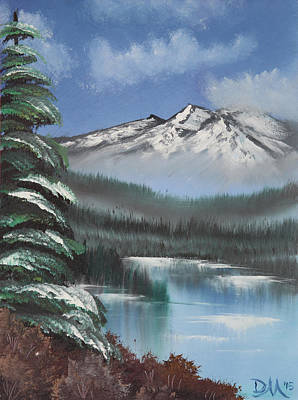 Bob Ross Painting - Mountain Lake by Diana Matlock