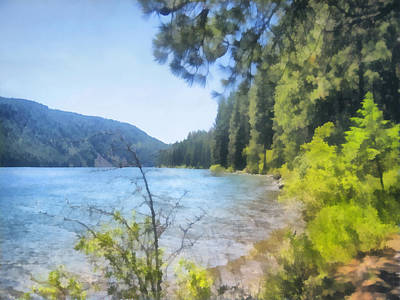 Painting - Mountain Lake In Summer -nature - Art by Ann Powell