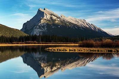 Mountain Lake Reflecting Mountain Art Print by Michael Interisano