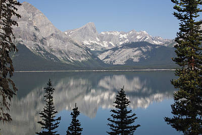Mountain Lake Reflecting Mountain Range Art Print by Michael Interisano