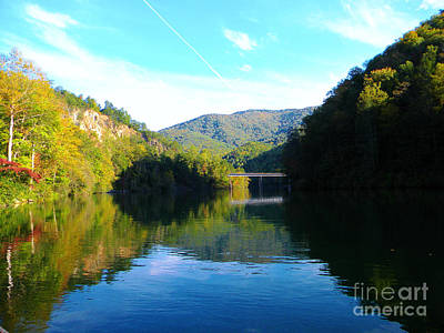 Mountain Lake Reflections Art Print by Lorraine Heath