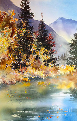 Painting - Mountain Lake by Teresa Ascone