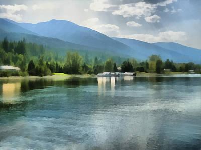 Painting - Mountain Lakeshore Kootenay Bay by Ann Powell