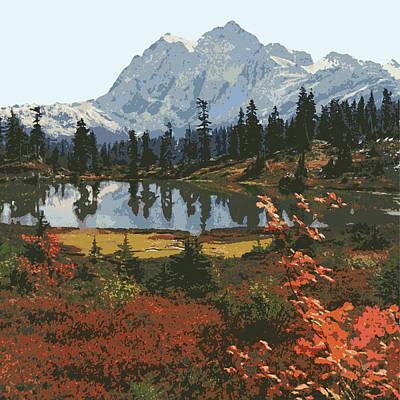Lakes Digital Art - Mountain Landscape by Gary Grayson