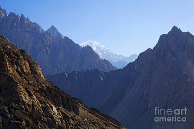Mountain Landscape In The Karakorum Art Print by Robert Preston