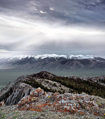 Photograph - Mountain Landscape by Leland D Howard