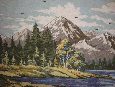 Mountain Lanscape Art Print by Eugen Mihalascu