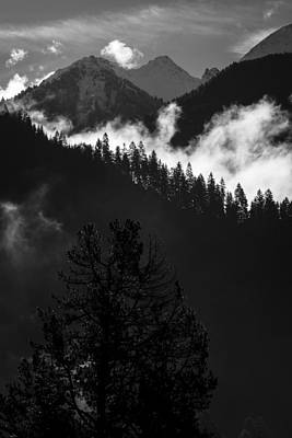Photograph - Mountain Layers Mono by Alex Saunders