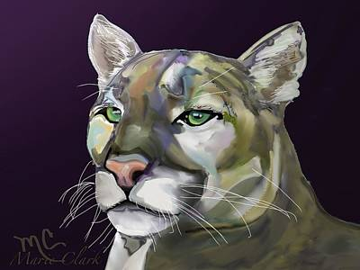 Anchor Down - Mountain Lion 2 by Marie Clark