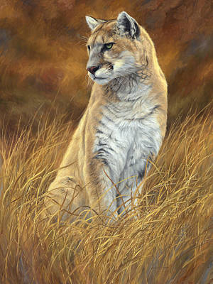 Cougar Painting - Mountain Lion by Lucie Bilodeau