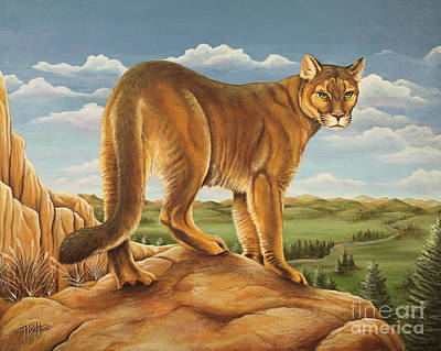 Painting - Mountain Lion by Tish Wynne