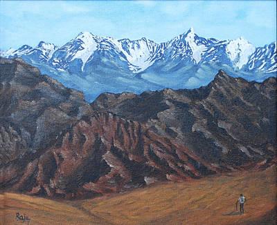 Himalaya Painting - Mountain Majesty - Himalaya by Raju Dyapur