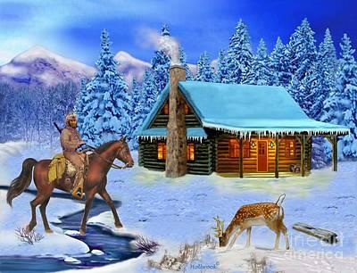 Digital Art - Mountain Man's Wilderness by Glenn Holbrook