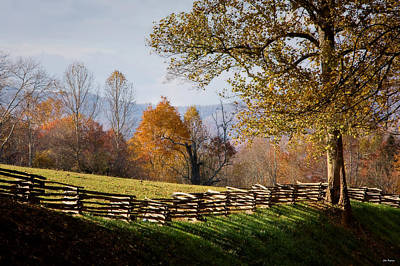 Split Rail Fence Photograph - Mountain Meadow, Asheville, North Carolina by John Pagliuca