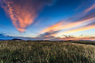 Mountain Meadow Sunset Art Print by Jonathan Gewirtz