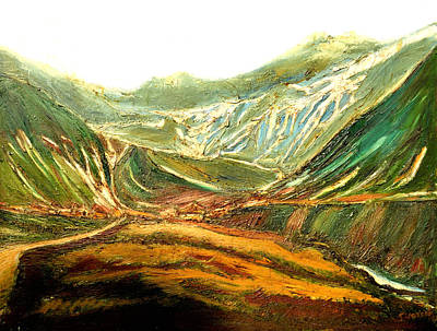 Painting - Mountain Moods by Anand Swaroop Manchiraju