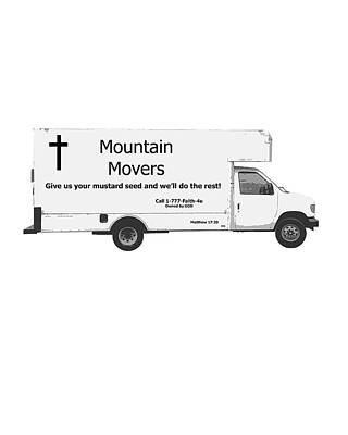 Mountain Movers Art Print by Stephanie Grooms